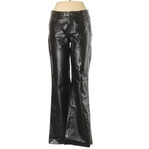 Theory leather bootcut pants